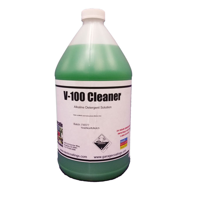 V 100 cleaner degreaser 1gl for Garage floor cleaner degreaser