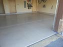 Home Garage with Pigmented Epoxy Flooring
