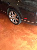 Residential Garage Brown Metallic Coating""