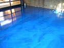 Metallic Ocean Blue Floor Design