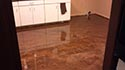 Dark Brown Glossy Concrete Home Kitchen