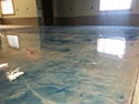 Blue and White Lava Flow Epoxy Coating