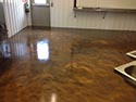 Gray Living Room Floor Coating with Lava Flow