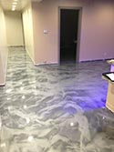 Metallic Grey Epoxy Hallway Design