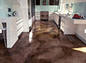 Glossy Cement Floor Finish in an Office Waiting Room