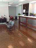 Brown Epoxy Flooring by Garage Coatings