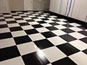 Industrial Concrete Epoxy With Checkerboard Pattern