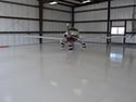 Aircraft on Epoxy Concrete Floor