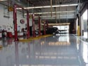 Service Bay with Concrete Epoxy Coating