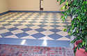 Lobby with Checkerboard Concrete Epoxy Installation