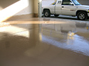Garage Floor with Pigmented Epoxy Coating