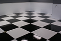 Room with Epoxy Coating - Checkerboard Pattern