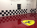 Home Auto Showroom with Epoxy Floor