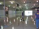 Epoxy Floor Coating Near End of Installation