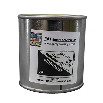 Epoxy Accelerator 41 for use with  Moisture Blocking Epoxy Clear Flooring Primer-Sealer