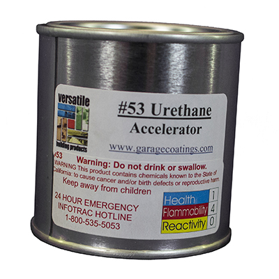 Urethane Accelerator 53 for use with 5300 Series Chemical Resistant Urethane Flooring Topcoat