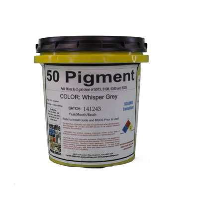 Polyurea Pigment Pack use 16oz per mixed 2 Gal of 5108, 5073, 5325 or 5350
