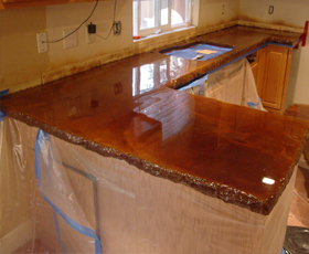 Rustoleum Painted Countertops and Floors Months Later
