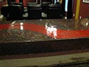Red and Black Countertop Design