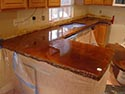 Tiled Concrete Counters for Cooking Area