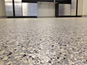 Flake Design for Gripping Concrete Floor