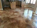 Modern concrete kitchen flooring