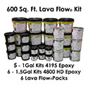 Lava Flow Metallic Epoxy Flooring & Coating System Kit