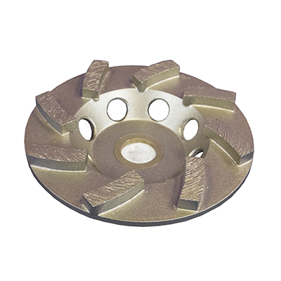 "4"" x 8 Segments Diamond Cup Wheel Threaded"