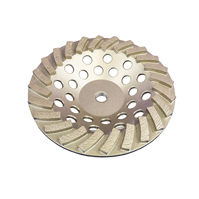 "7"" x 24 Segments Diamond Cup Wheel Threaded"