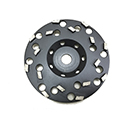 "7"" Spiked Diamond Disc Coating/Glue Removal Supreme Black"