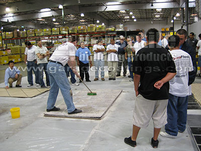 1 Day Epoxy Garage Flooring and Cabinet Training Class