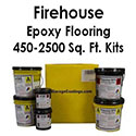 Firehouse Floor Epoxy Flake Flooring System Kit