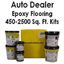 Auto Dealer Epoxy Flake Flooring System Kit