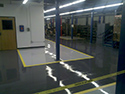 High-Gloss Finish Epoxy Floor Coating Over Concrete