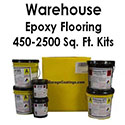 Warehouse Floor Epoxy Flake Flooring System Kit