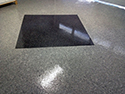 Epoxy Flake Floor Installation with Black Square