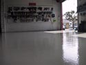 Garage Floor with Epoxy Flake Installation