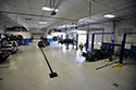 Auto Service Center with Epoxy Floor Flake Installation
