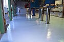 Auto Service Center with Roll On Rock Epoxy Flake Flooring