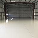 Aircraft Hanger with Flake Epoxy Flooring