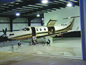 Aircraft Hangar with Epoxy Concrete Floors