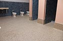 Restroom with Epoxy Flake Flooring