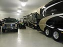 Large Vehicles on Flake Epoxy Flooring