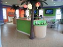 Snack Bar with Decorate Epoxy Flake Flooring