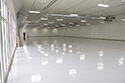 Large Room with White Epoxy Floor Coating