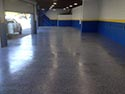 Garage Area with Flake Flooring Installation