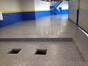 Flake Flooring System Installed in Garage Area