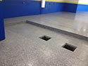 Flake Flooring Installed in Garage