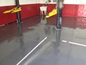 Service Area with Loaders and Epoxy Floor Coating