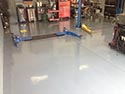 Workshop with Epoxy Floor Coating Installation